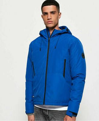 Mens Superdry Padded SD-Windcheater Jacket Blue