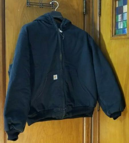 mens quilted lined duck jacket j140 blk