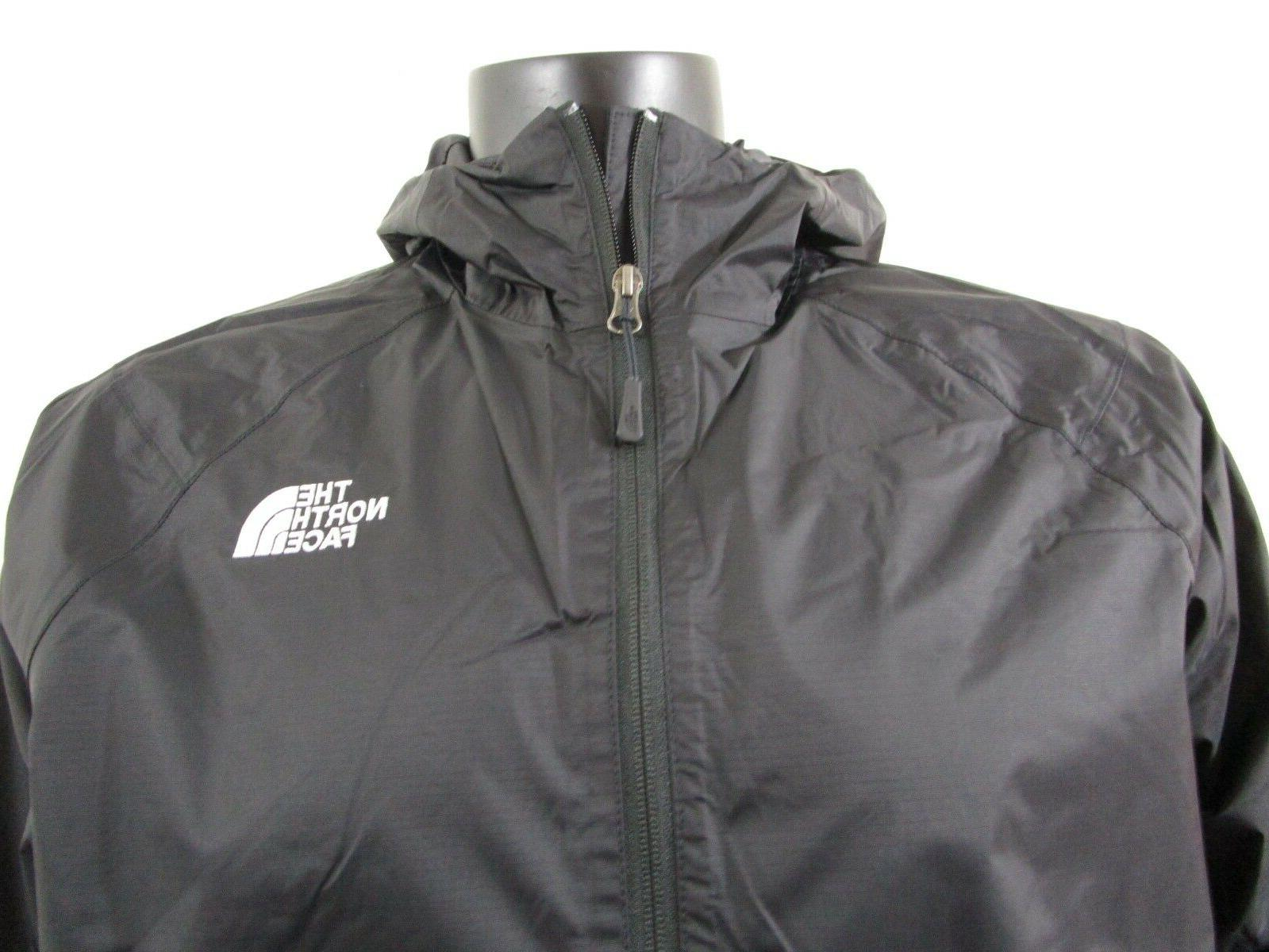 Mens Face Dryvent Hooded Rain Black