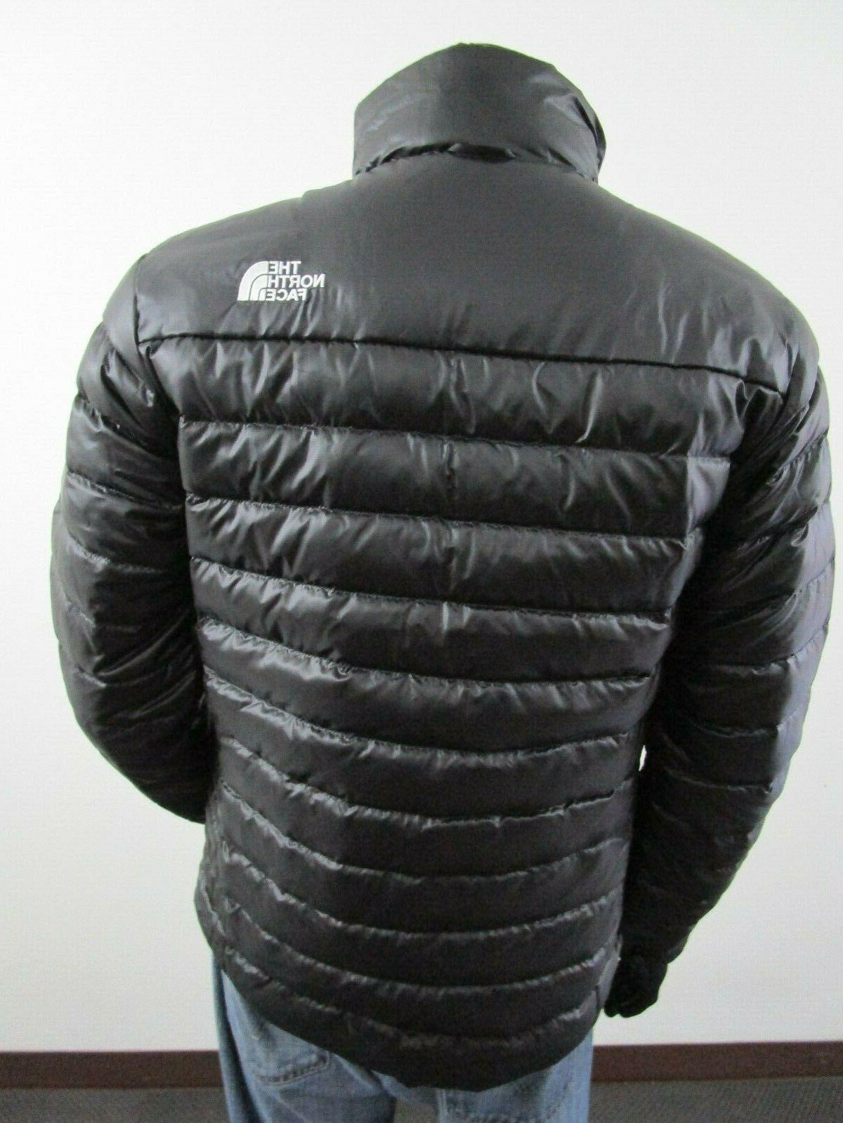 Mens TNF The Face Flare Insulated FZ Puffer Jacket Black White