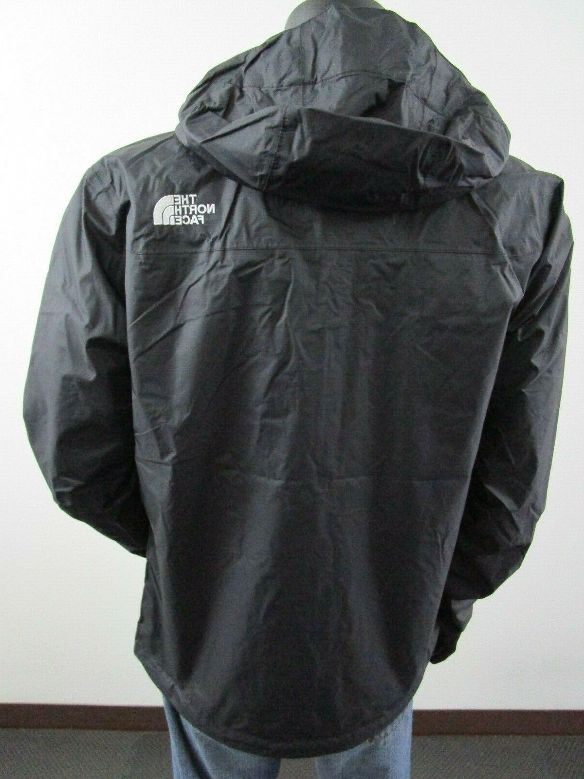 Mens TNF Face Venture Dryvent Hooded Rain Black Whit