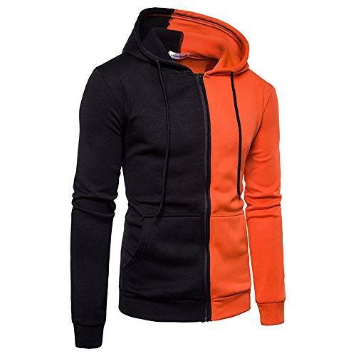 mens tops mens casual sports hooded diagonal