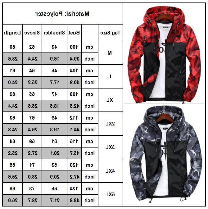 Mens Hiking Jacket Coat Sport Casual Hoodie