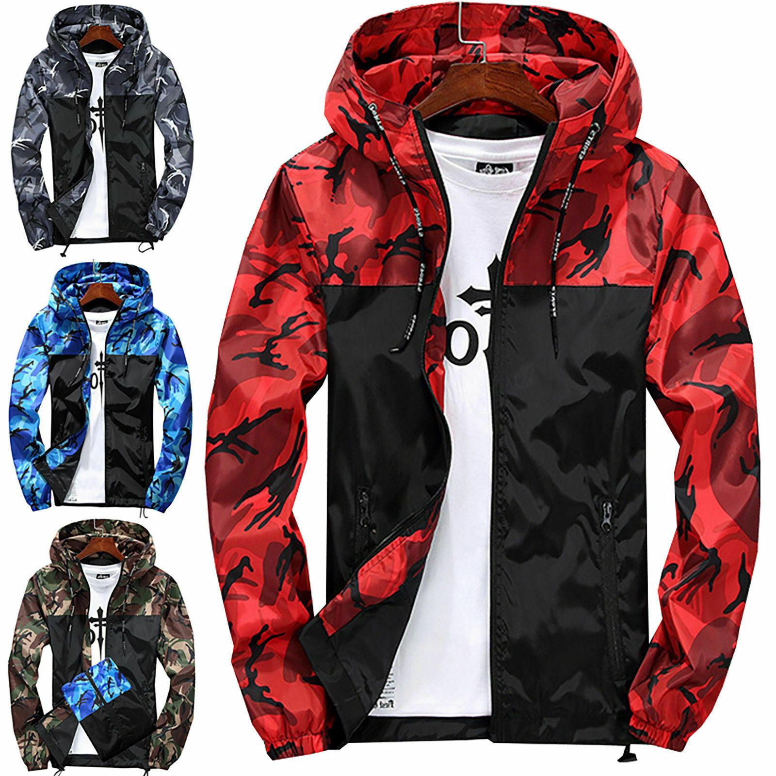 Mens Waterproof Hiking Coat Winter Sport Casual Hoodie US