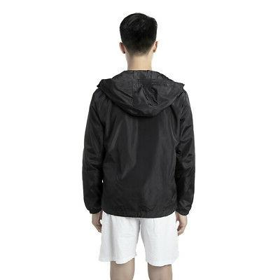 Mens Hood Waterproof Coat Sport