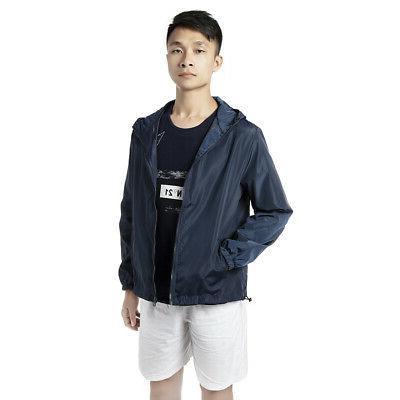 US Lightweight Windbreaker Jacket Hooded Outwear