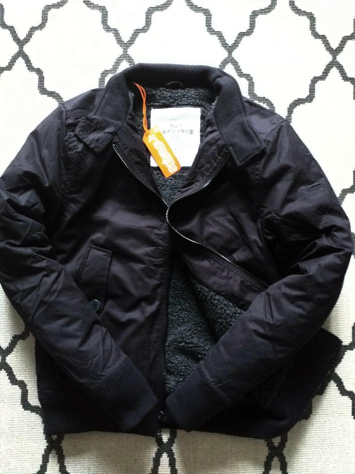 mens winter longhorn harrington jacket fleeced lined