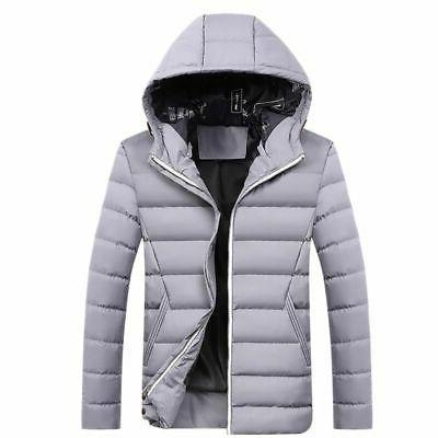 Mens Down Jacket Snow Hooded Oversize Coat