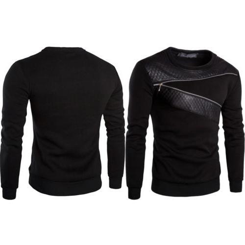 Mens Sweatshirt Coat Jacket Sweater Pullover Tops