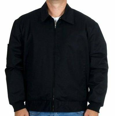 mens work jacket mechanic style zip jacket