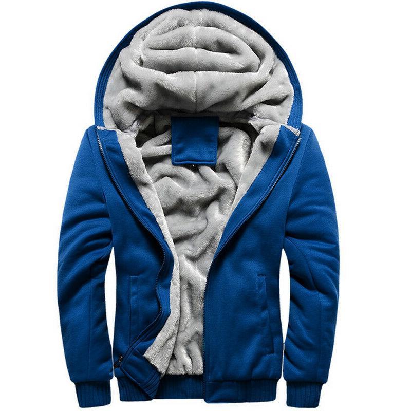 Mens Hoody Jacket Fleece Outwear 5XL