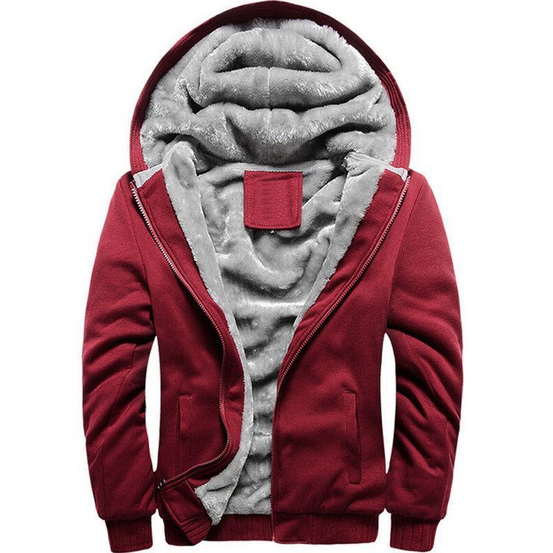 Mens Up Hoodie Hoody Jacket Fleece Hooded Outwear 5XL