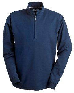 Ashworth Mens Micro Brushed Half-Zip Jacket - NAVY - L