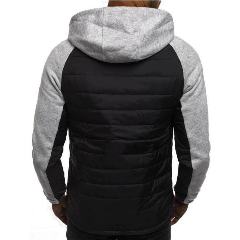 New Spliced <font><b>Jacket</b></font> Sweatshirts Fashion Cardigan Casual