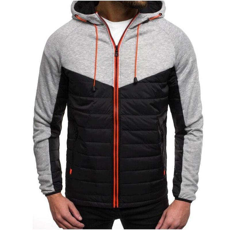 new casual hoody spliced font b jacket