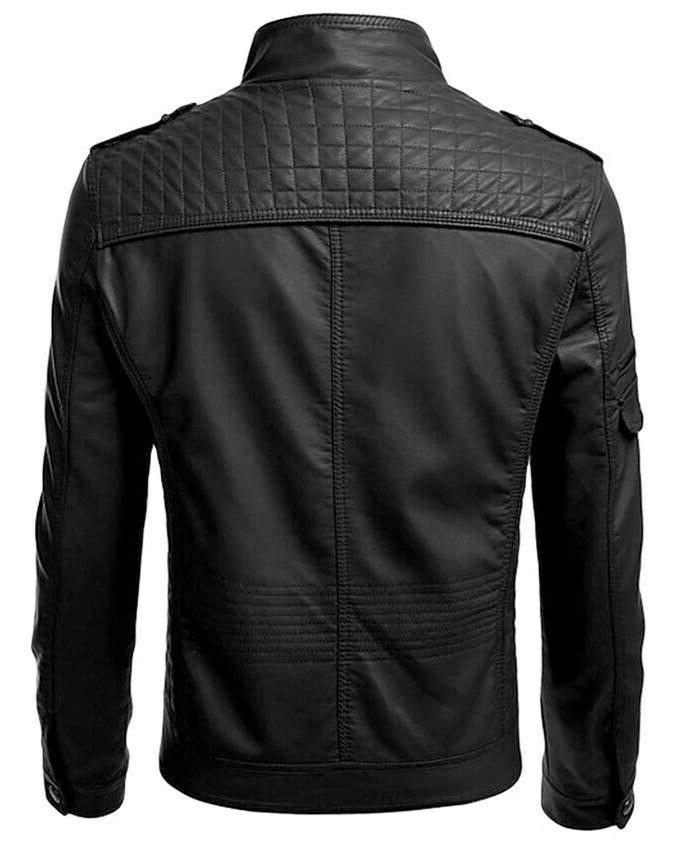 New Men's Genuine Leather fit Biker Motorcycle