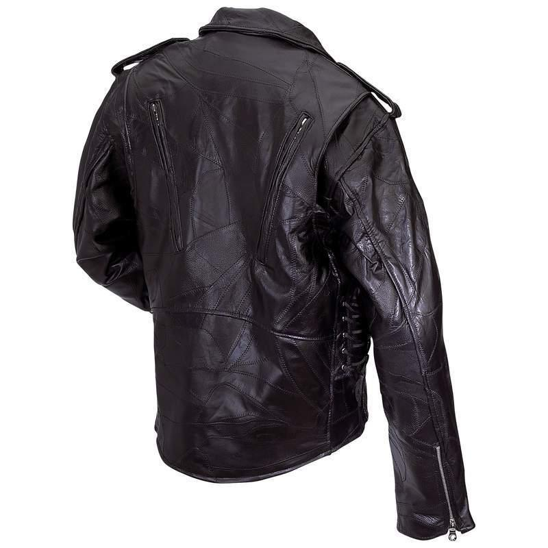 New Black Buffalo Leather Coat ZipOut