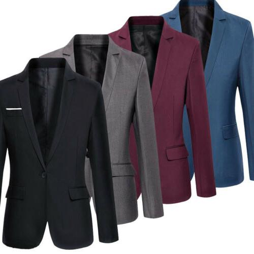 New Mens Casual Fit One Blazer Business Jacket With
