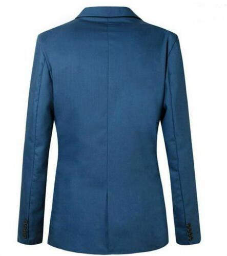 New Casual Fit One Button Blazer Business Coat Jacket With Pocket
