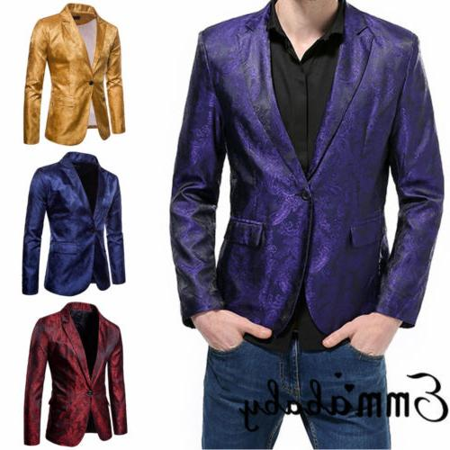 New Fit One Button Blazer Business With