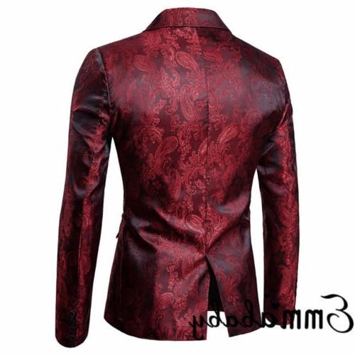 New Mens Fit Button Blazer Business Coat With
