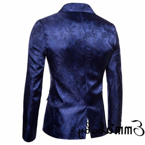 New Mens Casual Slim Fit One Suit Blazer Business With