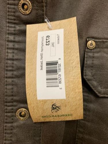 NEW Mens Journeyman Shirt Jacket Tobacco Sz 3XL