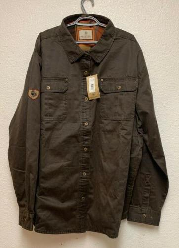new mens journeyman rugged shirt jacket tobacco