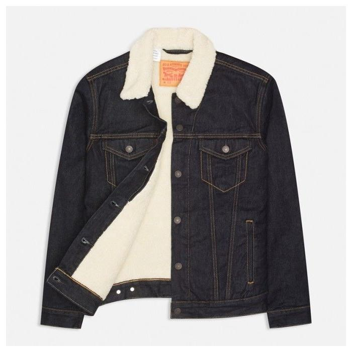 new mens levis sherpa trucker jacket dark