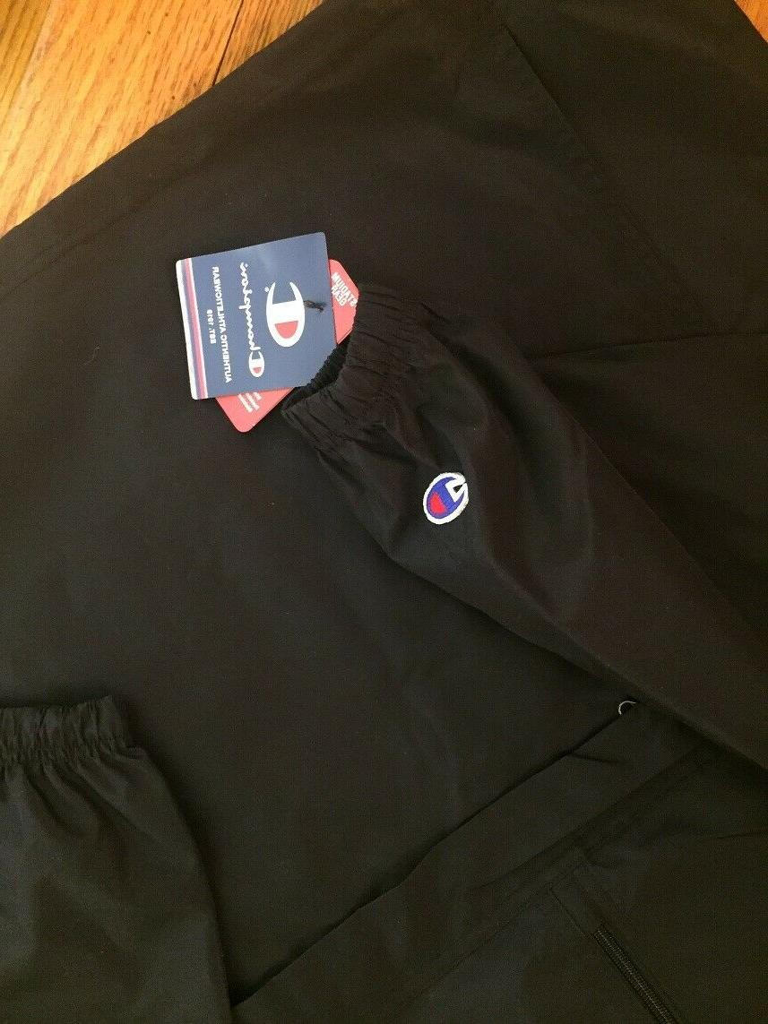 CHAMPION New W/TAG Mens Jacket Hooded Anorak Over BLACK