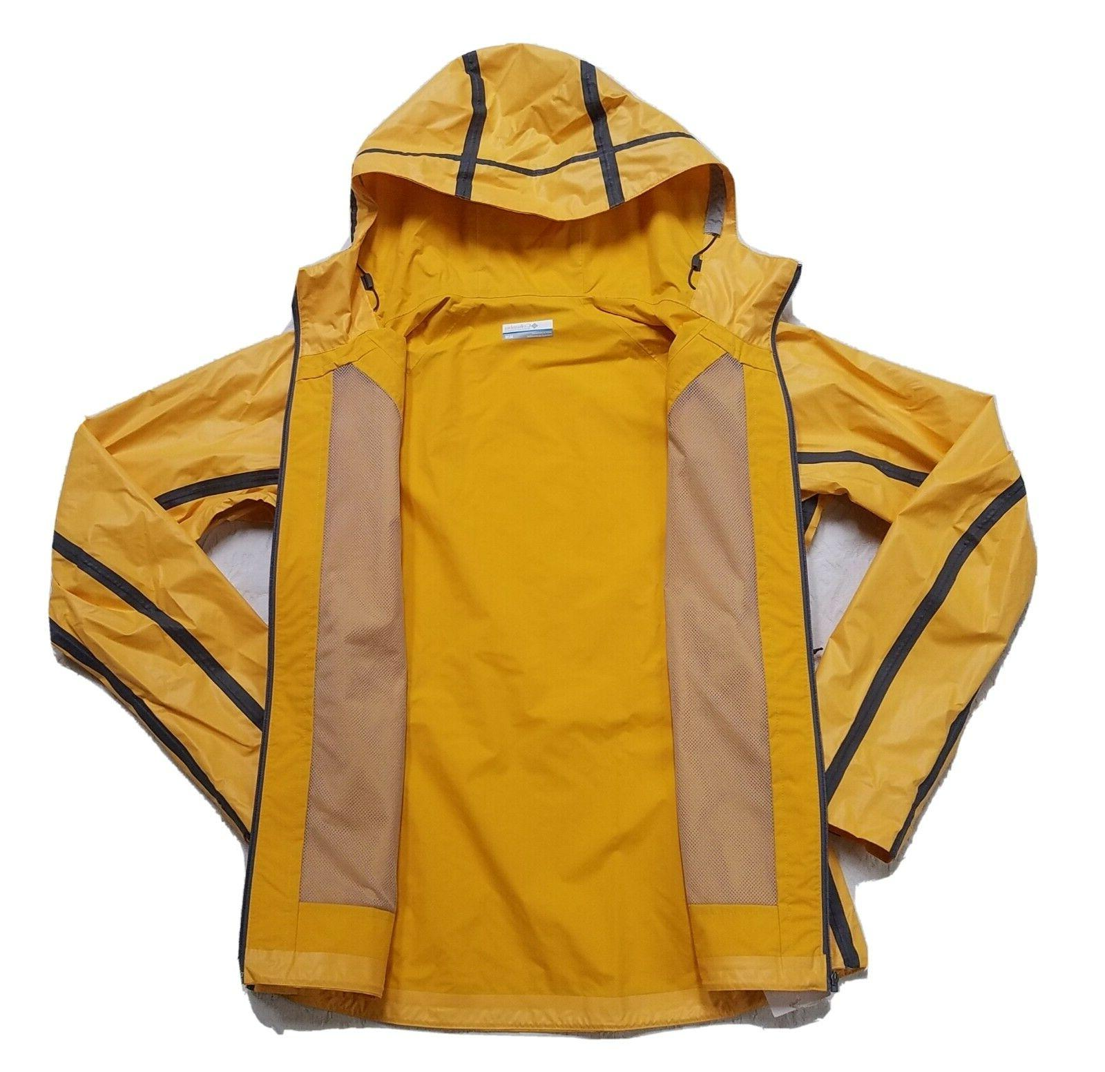 NEW COLUMBIA M OUTDRY RAIN SHELL JACKET