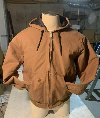 new work jacket hoodie duck brown mens