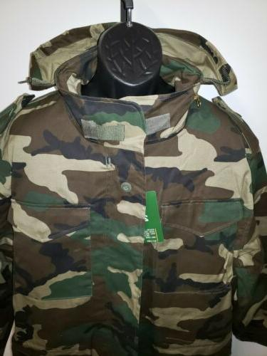 NWT Army Field Tactical Coat Camo Liner $79.95