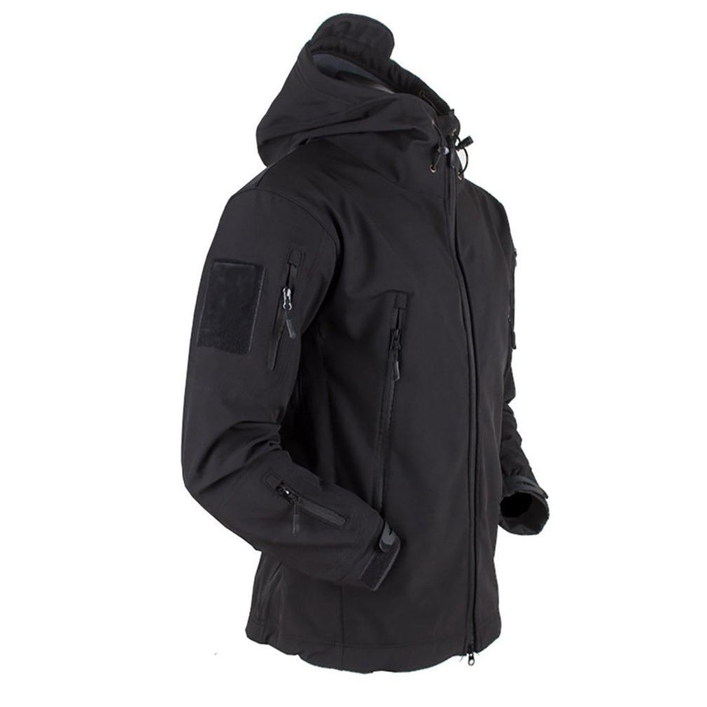 Outdoor Soft Shell <font><b>Men</b></font> Windproof Waterproof Breathable Coat Shark <font><b>Jacket</b></font>