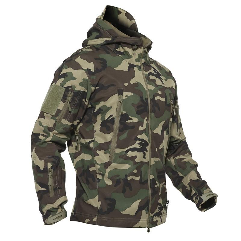 Outdoor Tactical Military Softshell <font><b>Fleece</b></font> <font><b>Jacket</b></font> <font><b>Men's</b></font> Hunting and Hiking Warm