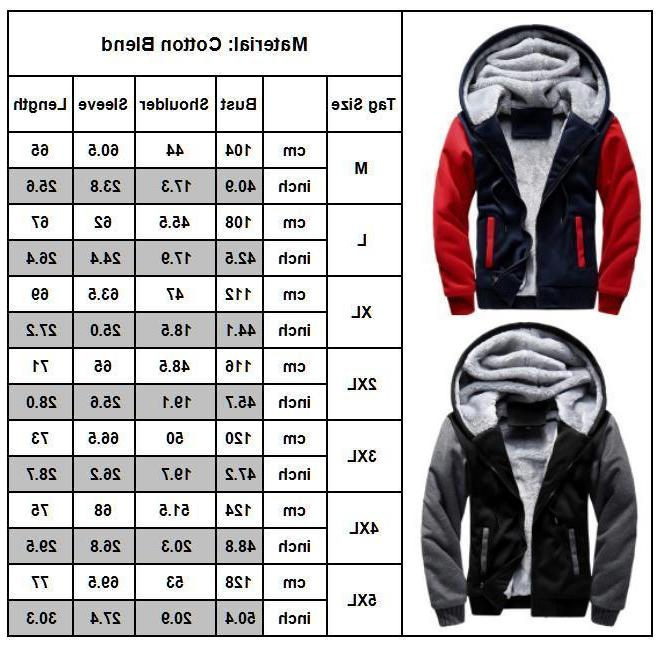 Men Winter Warm Jacket Fur Lined Fleece Hooded Coat Parka Oversize