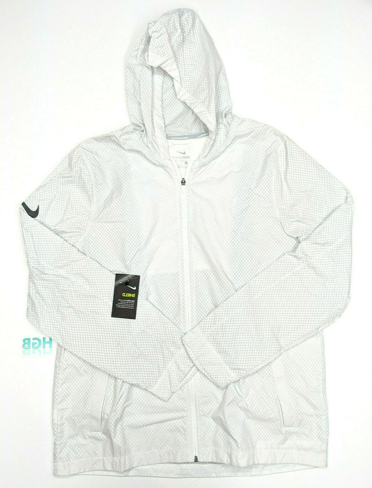 shield hooded jacket mens full zip reflective