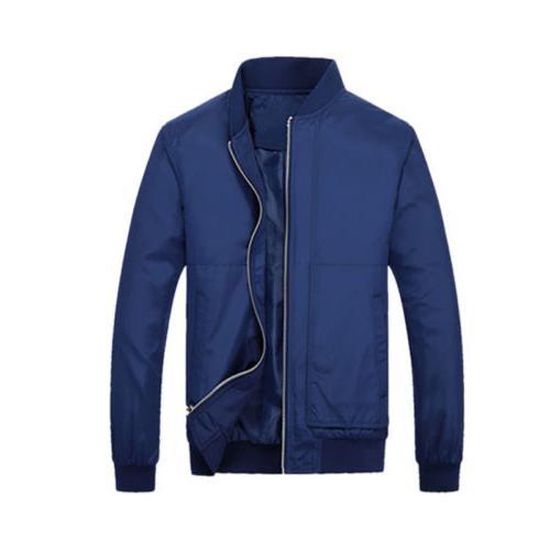 Stylish Bomber Jacket Motorcycle Zip Outwear Streetwear