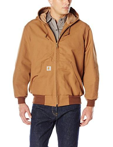Carhartt Men's Thermal Lined Duck J131,Brown,Small