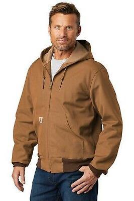 Carhartt Lined TALL Duck Active Jacket Men's Coat FREE