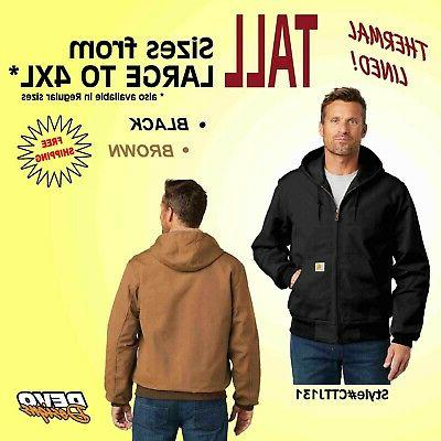 thermal lined tall duck active jacket men