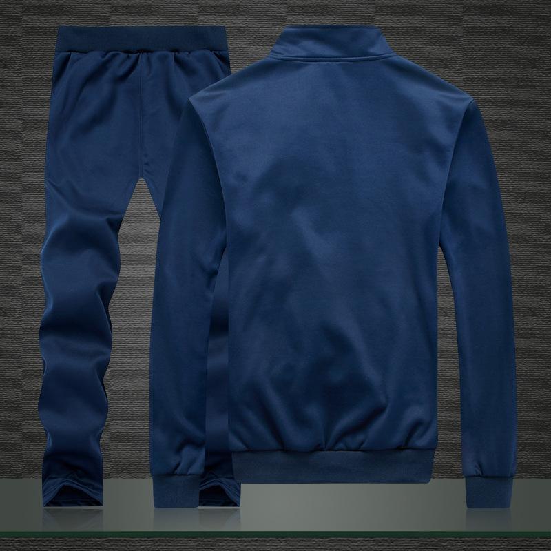Tracksuits <font><b>Men</b></font> Polyester Sporting Fleece Gyms Casual <font><b>Men's</b></font> Suit Sportswear Fitness