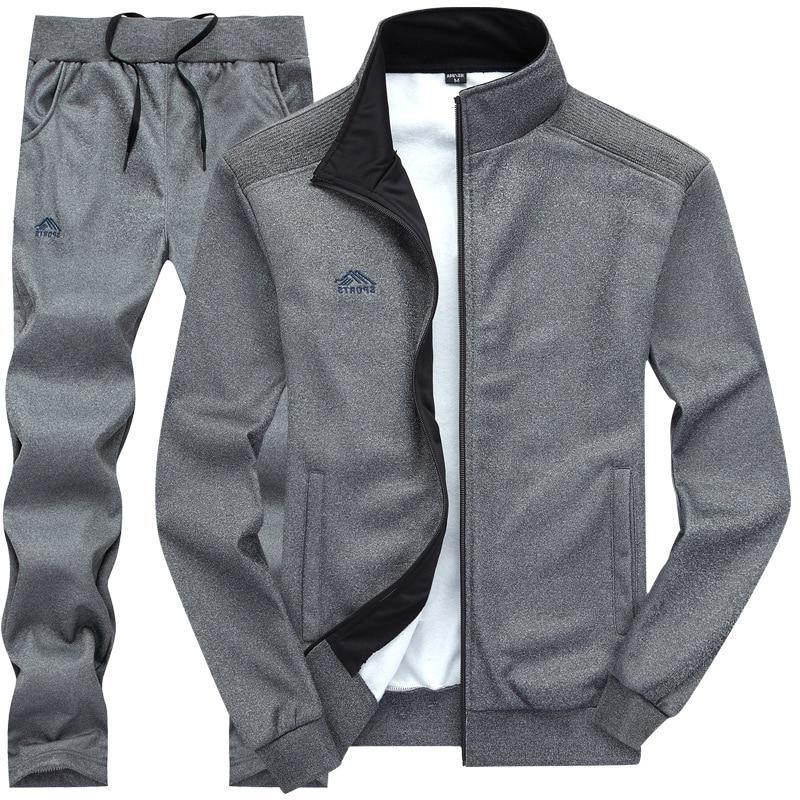 Tracksuits Polyester Sporting Fleece 2019 Casual <font><b>Men's</b></font> <font><b>Track</b></font> Suit
