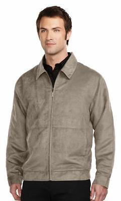 Tri-Mountain Men's Polyester Full Zip Brushed Suede Shell Wi