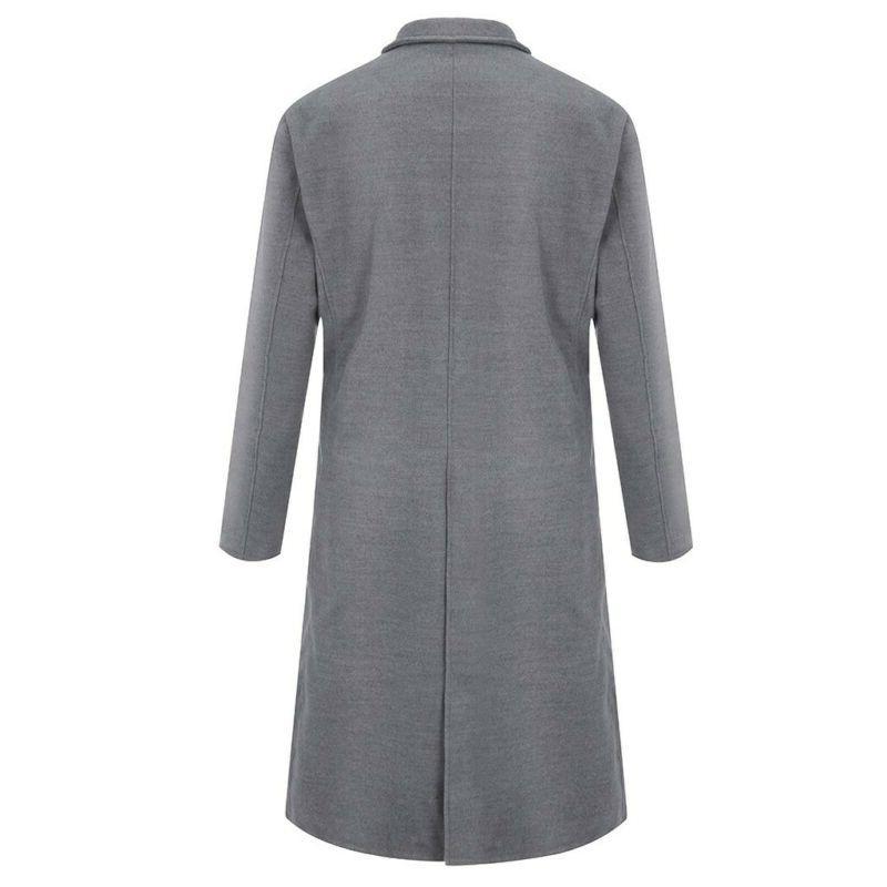US Fashion Warm Coat Trench Long Jacket