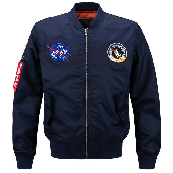 2019 Fashion US MEN JACKET EMBROIDERED NASA MILITARY ARMY FL