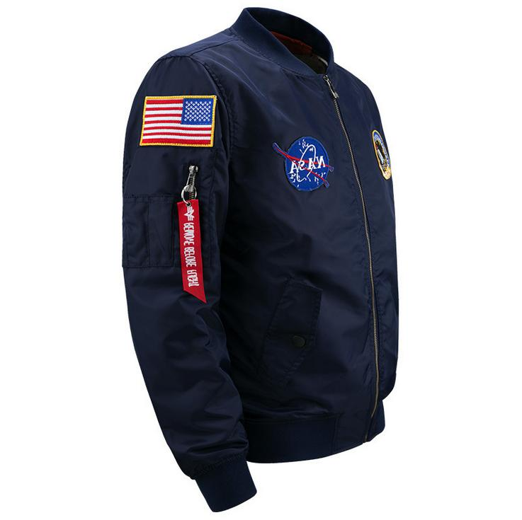 2019 Fanshion US MENS JACKET EMBROIDERED NASA ARMY