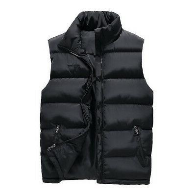 Zipper-up Sleeveless Jacket