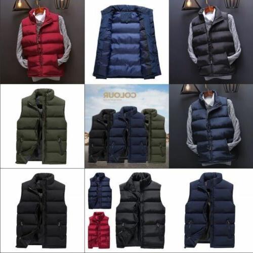 US Mens Winter Sleeveless Jacket