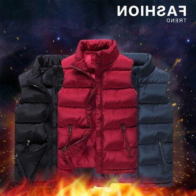 US Winter Zipper-up Warm Sleeveless Jacket Coat